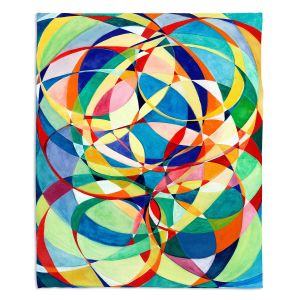 Decorative Fleece Throw Blankets | Lorien Suarez - Living Water 4 | Geometric Abstract