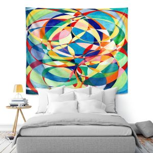 Artistic Wall Tapestry | Lorien Suarez - Living Water 4 | Geometric Abstract