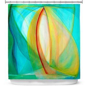 Premium Shower Curtains | Lorien Suarez - Sails | Abstract