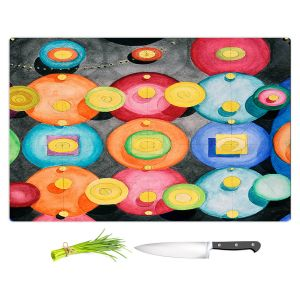 Artistic Kitchen Bar Cutting Boards | Lorien Suarez - Spheres 13 | Circle Art Abstract