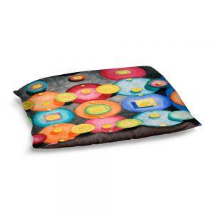 Decorative Dog Pet Beds | Lorien Suarez - Spheres 13 | Circle Art Abstract