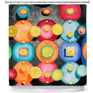 Premium Shower Curtains | Lorien Suarez - Spheres 13 | Circle Art Abstract