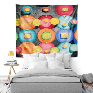 Artistic Wall Tapestry | Lorien Suarez - Spheres 13 | Circle Art Abstract