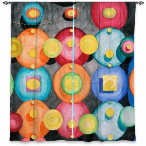 Decorative Window Treatments | Lorien Suarez - Spheres 13 | Circle Art Abstract