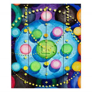 Decorative Wood Plank Wall Art | Lorien Suarez - Spheres 14 | Circle Art Abstract