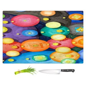 Artistic Kitchen Bar Cutting Boards | Lorien Suarez - Spheres 15 | Circle Art Abstract