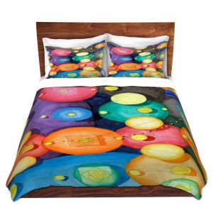 Artistic Duvet Covers and Shams Bedding | Lorien Suarez - Spheres 15 | Circle Art Abstract