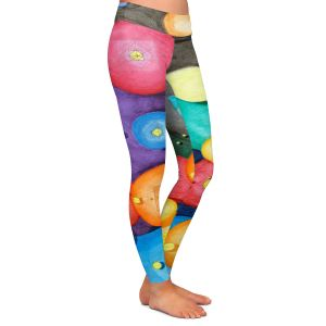 Casual Comfortable Leggings | Lorien Suarez - Spheres 15 | Circle Art Abstract