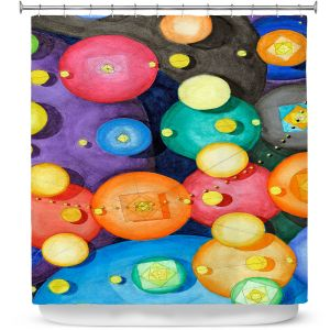 Premium Shower Curtains | Lorien Suarez - Spheres 15 | Circle Art Abstract
