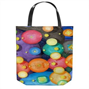 Unique Shoulder Bag Tote Bags | Lorien Suarez - Spheres 15 | Circle Art Abstract