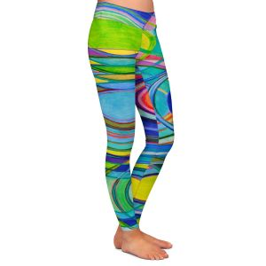 Casual Comfortable Leggings | Lorien Suarez - Water Series 1 | Abstract patterns