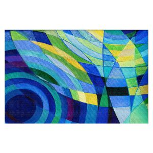 Decorative Floor Covering Mats | Lorien Suarez - Water Series 10 | Abstract patterns