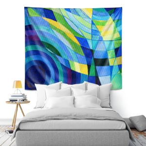 Artistic Wall Tapestry | Lorien Suarez - Water Series 10 | Abstract patterns