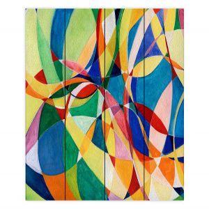 Decorative Wood Plank Wall Art | Lorien Suarez - Water Series 11 | Abstract patterns