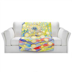 Artistic Sherpa Pile Blankets   Lorien Suarez - Water Series 12   Abstract patterns