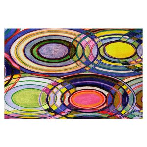 Decorative Floor Covering Mats | Lorien Suarez - Water Series 13 | Circle Art Abstract