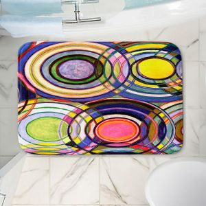 Decorative Bathroom Mats | Lorien Suarez - Water Series 13 | Circle Art Abstract