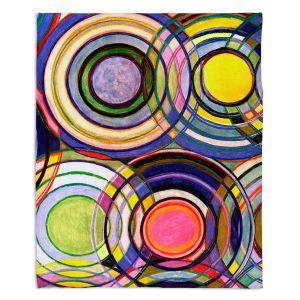 Artistic Sherpa Pile Blankets | Lorien Suarez - Water Series 13 | Circle Art Abstract
