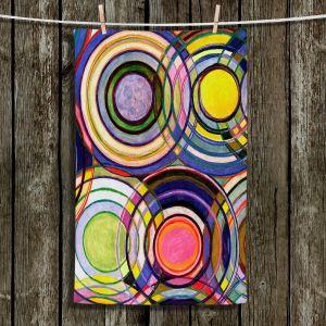 Unique Hanging Tea Towels | Lorien Suarez - Water Series 13 | Circle Art Abstract