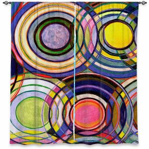 Decorative Window Treatments | Lorien Suarez - Water Series 13 | Circle Art Abstract