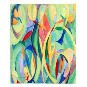 Decorative Fleece Throw Blankets | Lorien Suarez - Water Series 14 | Abstract patterns