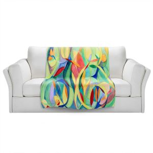 Artistic Sherpa Pile Blankets   Lorien Suarez - Water Series 14   Abstract patterns