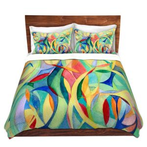 Artistic Duvet Covers and Shams Bedding | Lorien Suarez - Water Series 14 | Abstract patterns