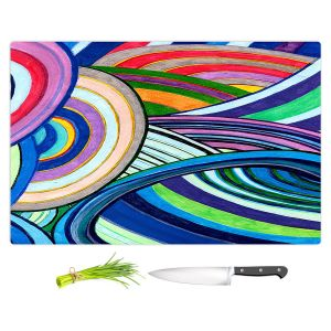 Artistic Kitchen Bar Cutting Boards | Lorien Suarez - Water Series 15 | Abstract patterns