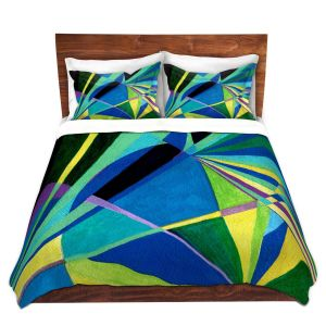 Artistic Duvet Covers and Shams Bedding | Lorien Suarez - Water Series 2 | Abstract patterns
