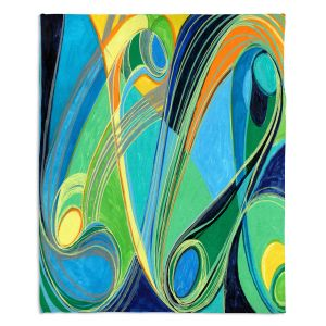 Decorative Fleece Throw Blankets | Lorien Suarez - Water Series 3 | Abstract patterns