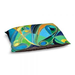 Decorative Dog Pet Beds | Lorien Suarez - Water Series 3 | Abstract patterns