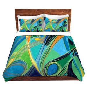 Artistic Duvet Covers and Shams Bedding | Lorien Suarez - Water Series 3 | Abstract patterns