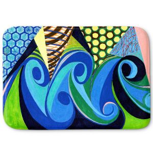 Decorative Bathroom Mats | Lorien Suarez - Water Series 4 | Abstract patterns