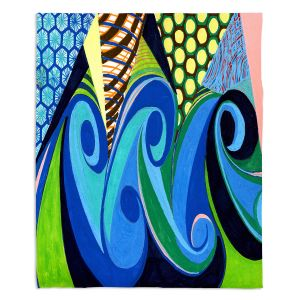 Decorative Fleece Throw Blankets | Lorien Suarez - Water Series 4 | Abstract patterns