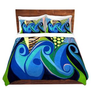Artistic Duvet Covers and Shams Bedding | Lorien Suarez - Water Series 4 | Abstract patterns