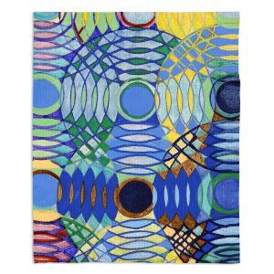 Decorative Fleece Throw Blankets | Lorien Suarez - Water Series 5 | Abstract patterns