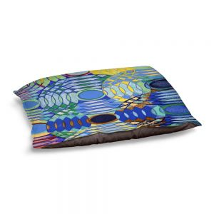 Decorative Dog Pet Beds | Lorien Suarez - Water Series 5 | Abstract patterns