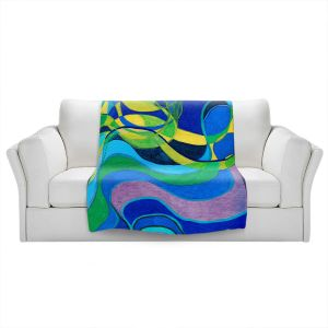 Artistic Sherpa Pile Blankets   Lorien Suarez - Water Series 6   Abstract patterns