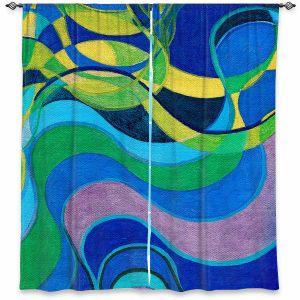 Decorative Window Treatments   Lorien Suarez - Water Series 6   Abstract patterns