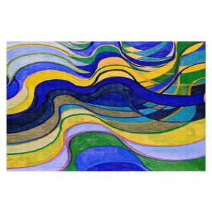 Decorative Floor Covering Mats   Lorien Suarez - Water Series 7   Abstract patterns