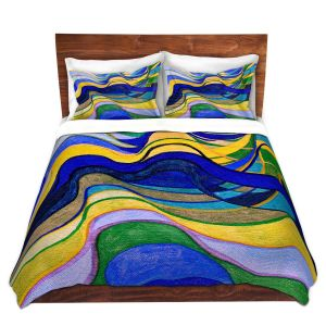 Artistic Duvet Covers and Shams Bedding | Lorien Suarez - Water Series 7 | Abstract patterns