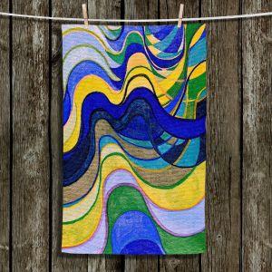 Unique Bathroom Towels | Lorien Suarez - Water Series 7 | Abstract patterns