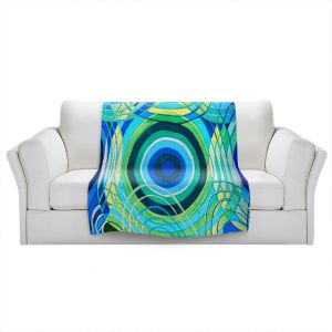 Artistic Sherpa Pile Blankets   Lorien Suarez - Water Series 8   Abstract patterns