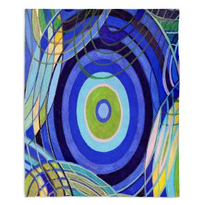 Decorative Fleece Throw Blankets | Lorien Suarez - Water Series 9 | Abstract patterns