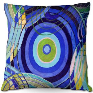 Throw Pillows Decorative Artistic | Lorien Suarez - Water Series 9 | Abstract patterns