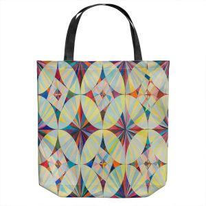 Unique Shoulder Bag Tote Bags | Lorien Suarez - Wheel 112 | Geometric Pattern