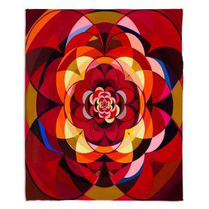 Decorative Fleece Throw Blankets | Lorien Suarez - Wheel 117 | Geometric