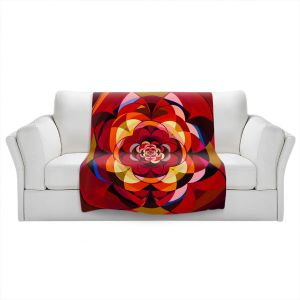 Artistic Sherpa Pile Blankets   Lorien Suarez - Wheel 117   Geometric