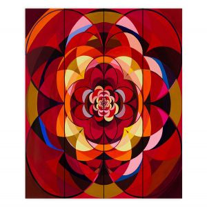 Decorative Wood Plank Wall Art | Lorien Suarez - Wheel 117 | Geometric
