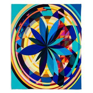 Decorative Fleece Throw Blankets | Lorien Suarez - Wheel 118 | Geometric